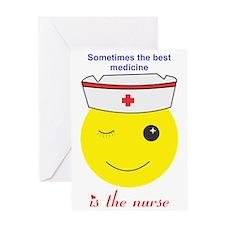 Nurse best medicine Greeting Card