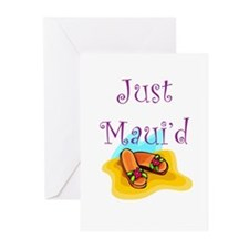 Just Maui'd Flip Flops Greeting Cards (Package of