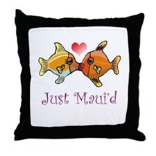 Just Maui'd Tropical Fish Log Throw Pillow