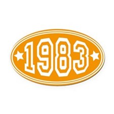 1983 Oval Car Magnet