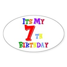 7th Birthday Oval Decal
