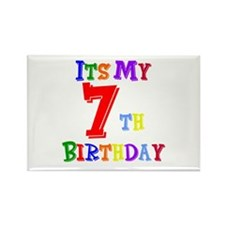 7th Birthday Rectangle Magnet