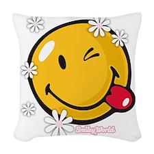 flower me Woven Throw Pillow