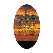 Serenity Oval Car Magnet