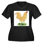 Buff OE Cock Women's Plus Size V-Neck Dark T-Shirt