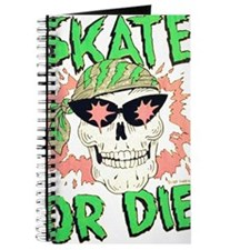 Retro 80s Skate or Die Skull Journal