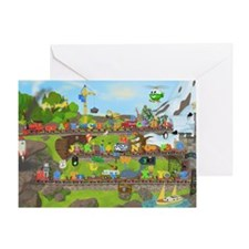 Alphabet Train Poster, 36x24, Two Ob Greeting Card