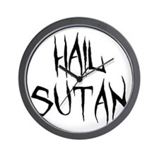 Hail Sutan Black Wall Clock