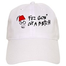 Angry red fez Baseball Cap
