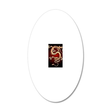 Lucky Chinese Dragon 20x12 Oval Wall Decal