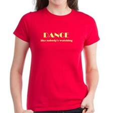 "NEW! ""DANCE"" Women's Red T-Shirt"