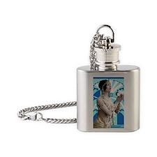 Art Deco Dancer Flask Necklace