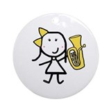 Girl & Baritone Ornament (Round)