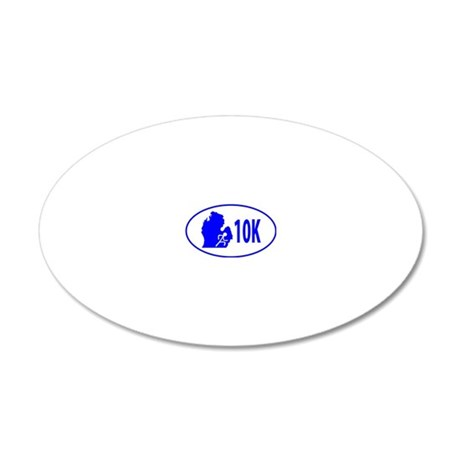 10K Blue 20x12 Oval Wall Decal