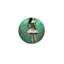Dia De Los Muertos Stockings Pin-up Mini Button
