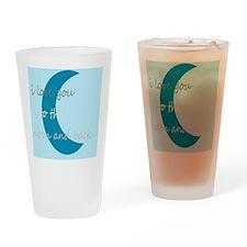 moonandbackblue Drinking Glass