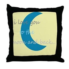 moonandbackyello Throw Pillow