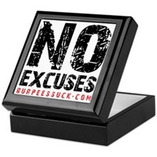 NO EXCUSES - WHITE Keepsake Box