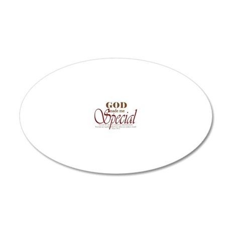 God_Made_Me_Special 20x12 Oval Wall Decal