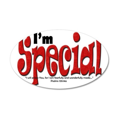 Im_Special 35x21 Oval Wall Decal