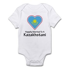 Happily Married Kazakhstan Infant Bodysuit