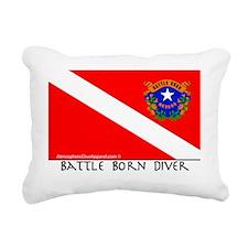 Nevada Battle Born Scuba Rectangular Canvas Pillow