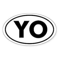 YO Oval Decal