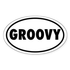 GROOVY Oval Decal