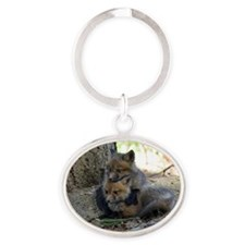 kits head on sib Oval Keychain