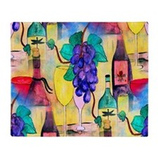 The Grape Escape Wine Throw Blanket