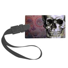 Skull with Dia de los Muertos wo Luggage Tag