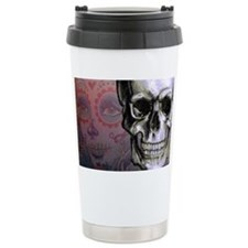 Skull with Dia de los M Travel Mug