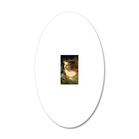 Take the Fair Face of Woman 20x12 Oval Wall Decal