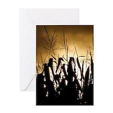 Corn field silhouettes Greeting Card
