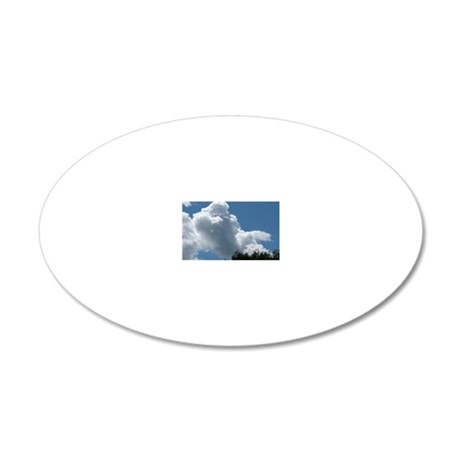 Poodle in Clouds? 20x12 Oval Wall Decal