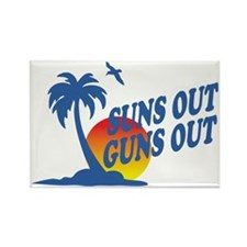 Suns Out Guns Out Rectangle Magnet