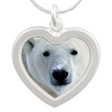 bear Silver Heart Necklace
