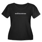 Ambisextrous Women's Plus Size Scoop Neck Dark T-S