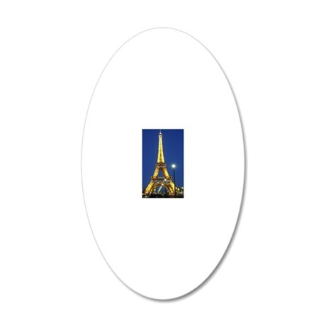 Eifel Tower at Night 20x12 Oval Wall Decal