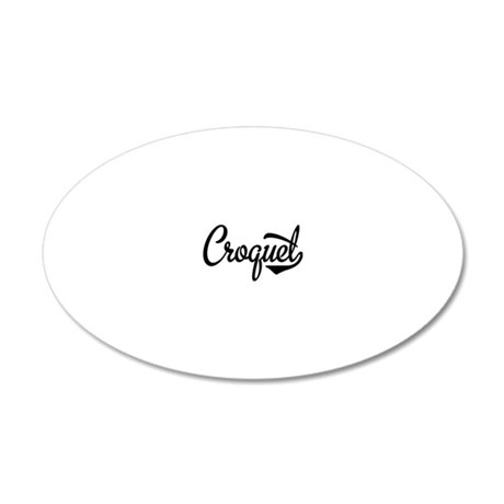 Croquet 20x12 Oval Wall Decal