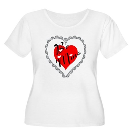 Lacy Heart Women's Plus Size Scoop Neck T-Shirt