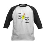 Your'e An Idiot Kids Baseball Jersey