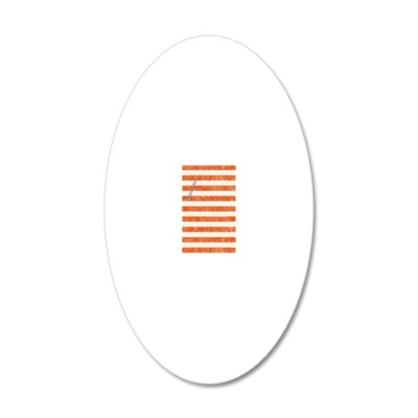 Vintage Orange and White Bea 20x12 Oval Wall Decal