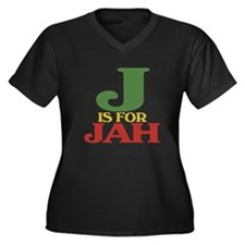 J is for Jah Women's Plus Size V-Neck Dark T-Shirt