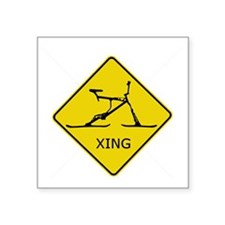 "Bike Xing Square Sticker 3"" x 3"""