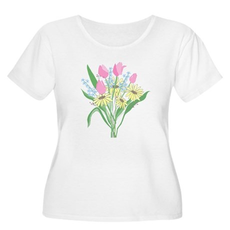 Valentine Bouquet Women's Plus Size Scoop Neck T-S