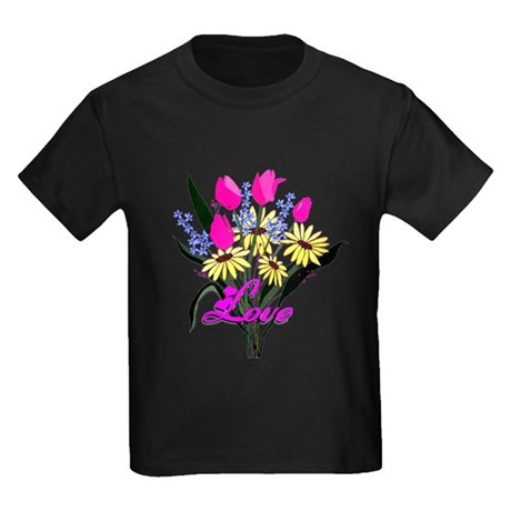 Love Bouquet Kids Dark T-Shirt