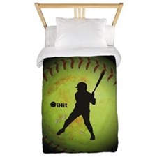 iHit Fastpitch Softball (left handed) Twin Duvet