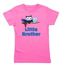 Little Brother Owl Blue Girl's Tee