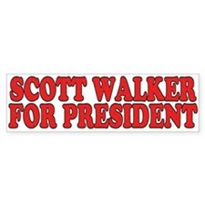 Scott Walker for President Bumper Bumper Sticker